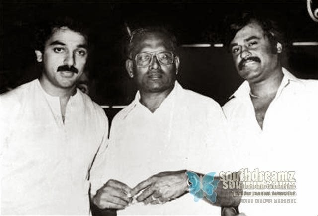 RAJINIKANTH WITH KAMAL HAASAN & DIRECTOR S.P. MUTHURAMAN