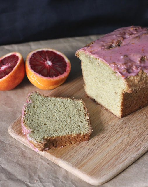 Avocado Pound Cake with Blood Orange Glaze Recipe | Fake Food Free