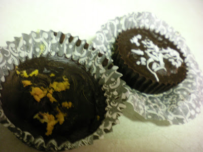 Tangerine coconut cream chocolates