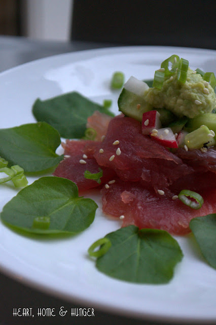 ahi tuna carpaccio with pickled cucumber and radish salad cheesecake factory inspired recipe