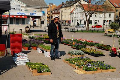 blomsterhandlaren, torget, vänersborg, foto anders n
