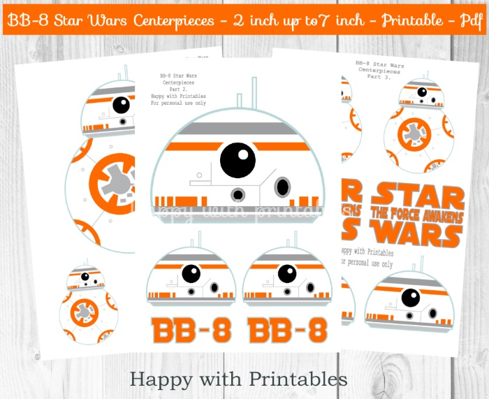 BB-8 PARTY PRINTABLES