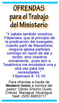 OFRENDE A SU MINISTERIO