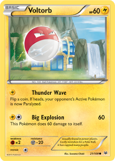 Voltorb Roaring Skies Pokemon Card