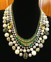 Necklace of the Month-October The Harper necklace with vintage rhinestones and pearls.