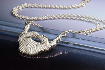 Sterling silver beard necklace