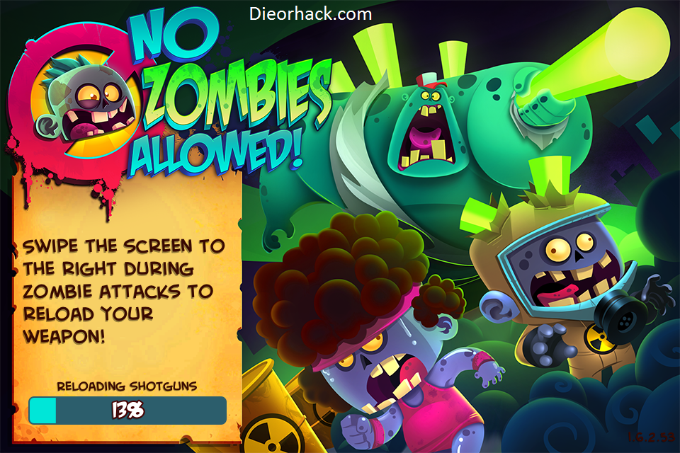 No Zombies Allowed ios hack cheats