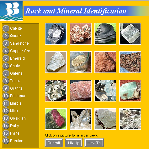 mineral identification chart