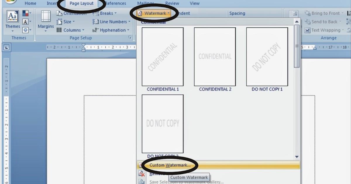 Cara Membuat Watermark Dalam Microsoft Word Belajar Microsoft Office Dan Bahasa Inggris