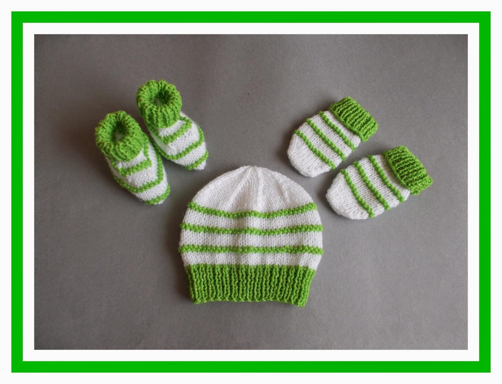 Daisy Baby Booties Knitting Pattern : mariannas lazy daisy days: Garter Stitch Ridge Baby Set