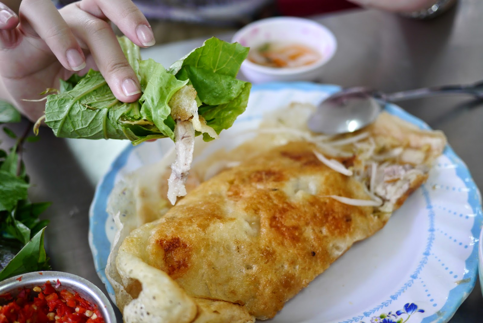 Banh xeo - French cuisine influences ...