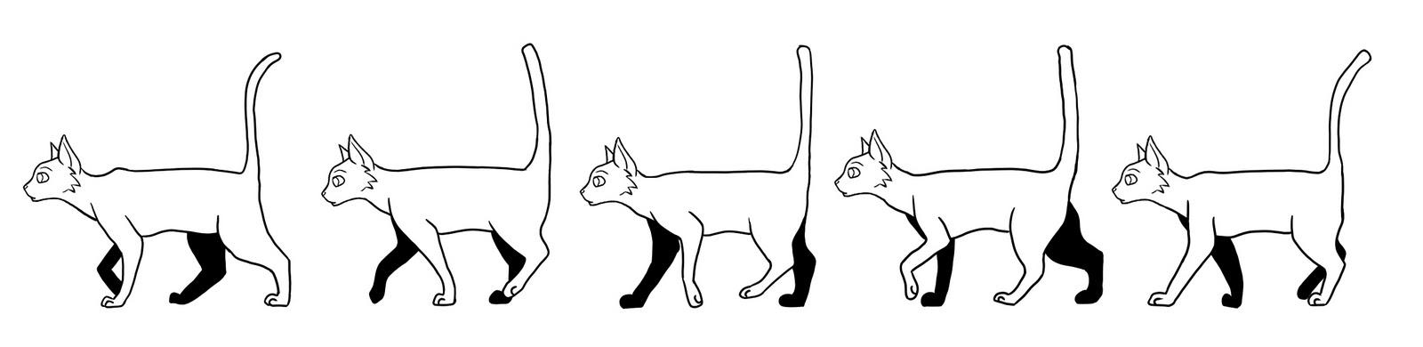 Elegant Walk Cat Animation