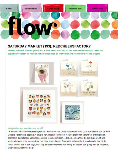 Red Cheeks Factory op het Flow Magazine Blog