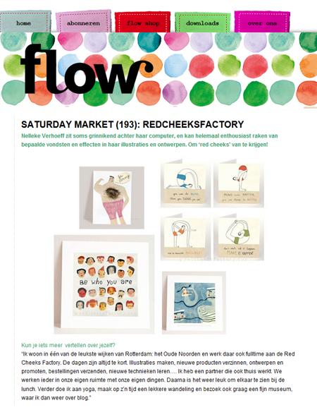 Red Cheeks Factory op het Flow Magazine Blog