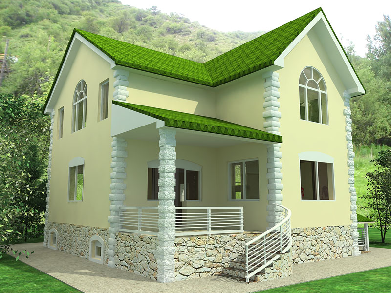 Small house minimalist design modern home minimalist for Green modern home designs