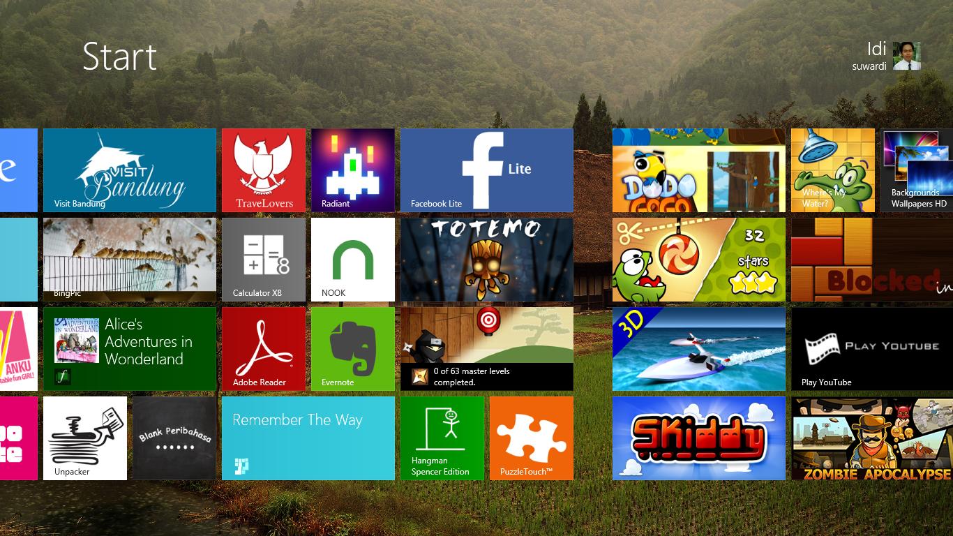 Cara Merubah Tampilan Start Screen Windows 8