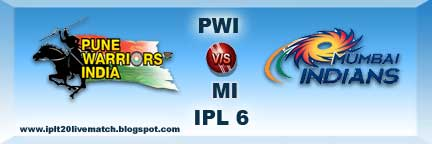 IPL 6 PWI vs MI Live Streaming Video and Highlight Video IPL Season 6 Point Table