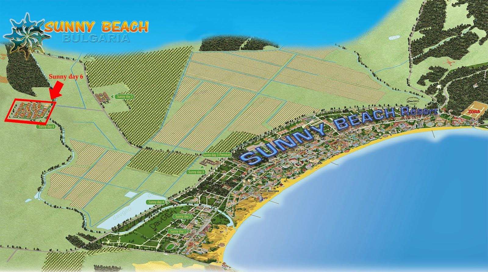 Комплекс империя солнечный берег на карте google