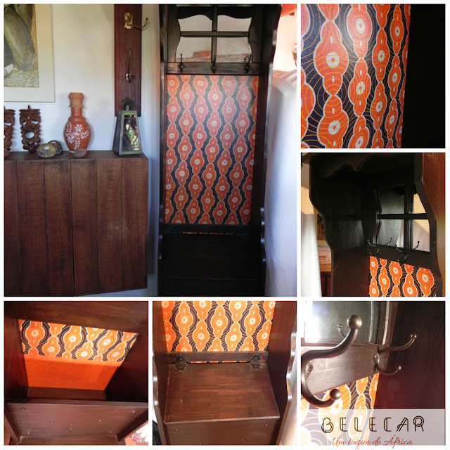 móveis com tecido africano - decoração de interiores