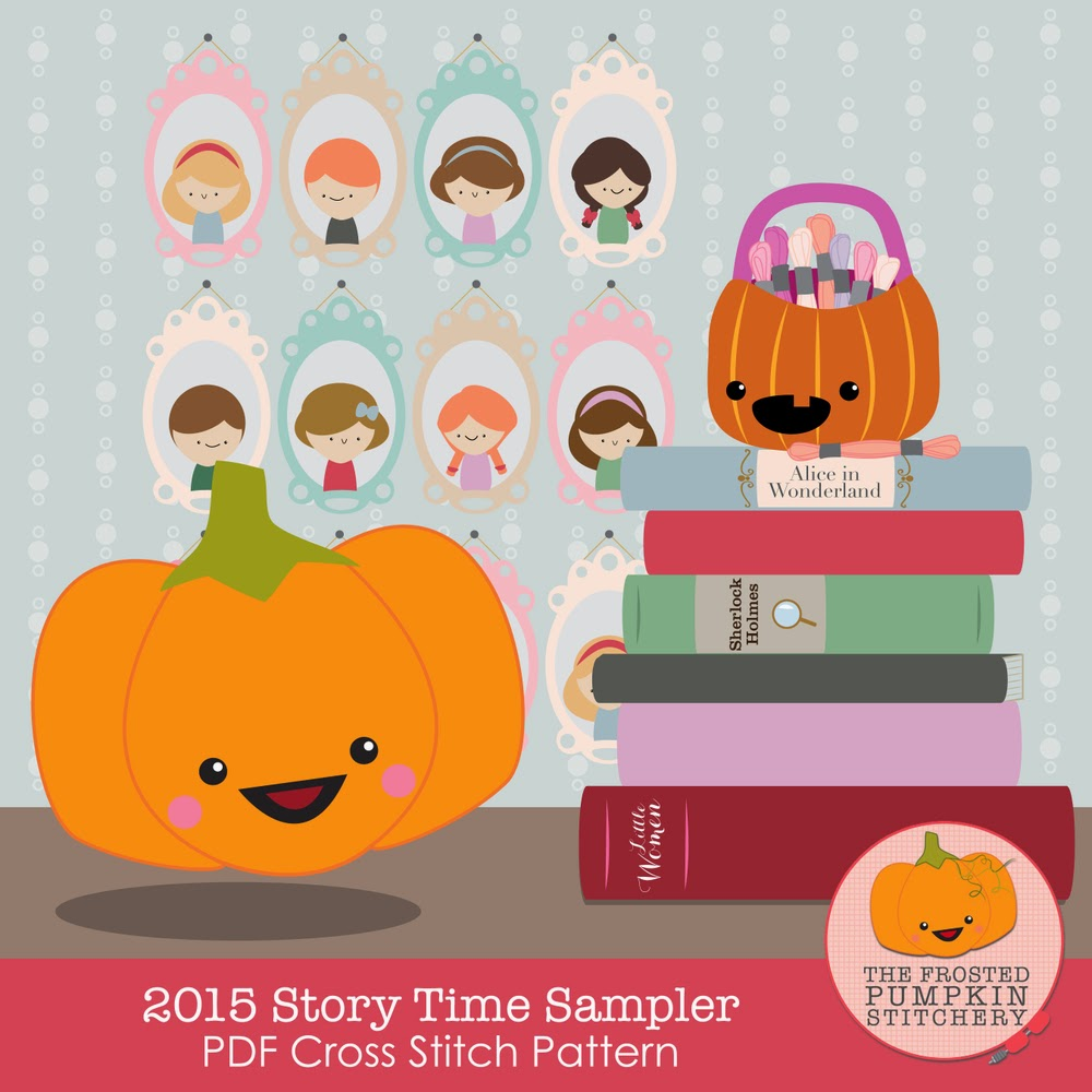 http://thefrostedpumpkinstitchery.bigcartel.com/product/2015-story-time-sampler-pdf-cross-stitch-pattern