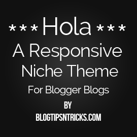 Hola a Responsive Blogger Theme