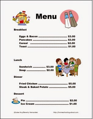Remarkable image pertaining to printable kids menu