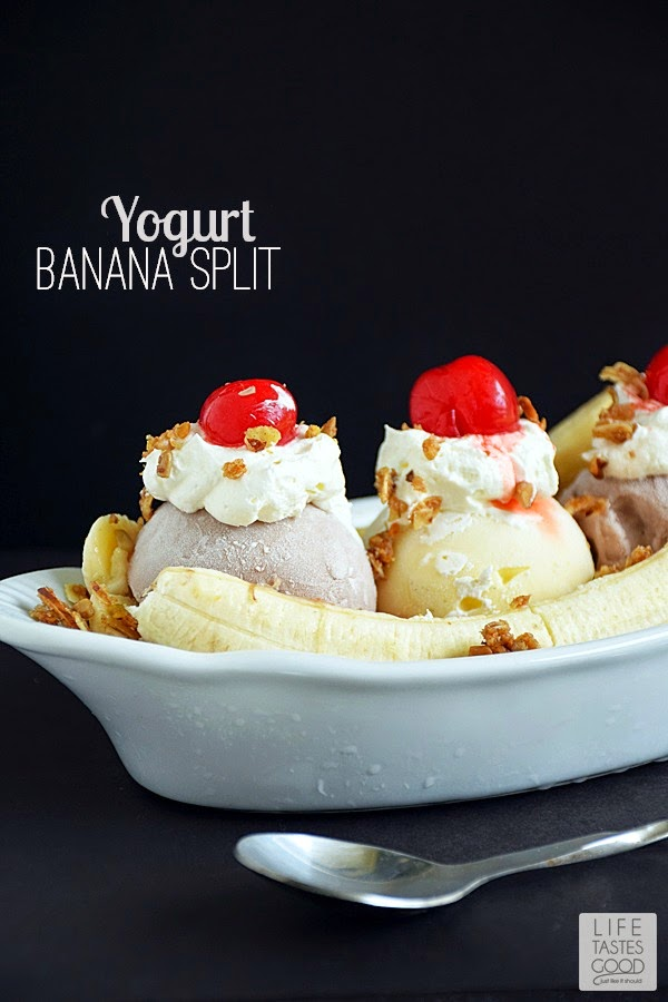 Banana Split with Yogurt | by Life Tastes Good is just the right amount of wrong! #MullerMoment #Ad