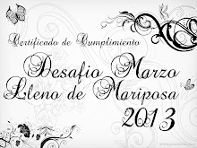 Certificado Reto Mariposas 2013