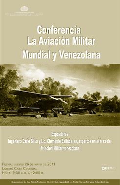Conferencia: Aviadores Venezolanos en la I y II Guerra Mundial.
