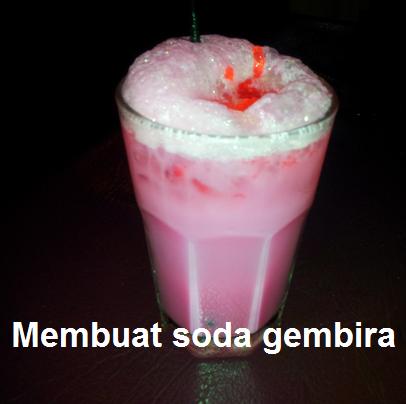 Cara Membuat segelas soda gembira