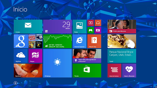 Pantalla Inicio Windows 8.1 Preview