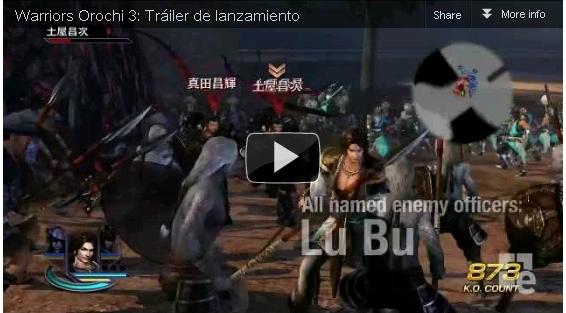Trailer del Juego Warriors Orochi 3 2012 720p HD