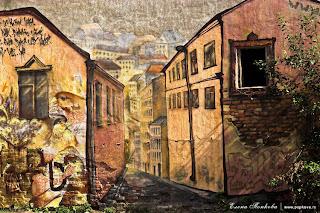 Выборг, роспись стен городских домов