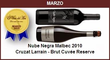 Marzo - Nube Negra Malbec 2010,Cruzat Larraín - Brut Cuvée Reserve