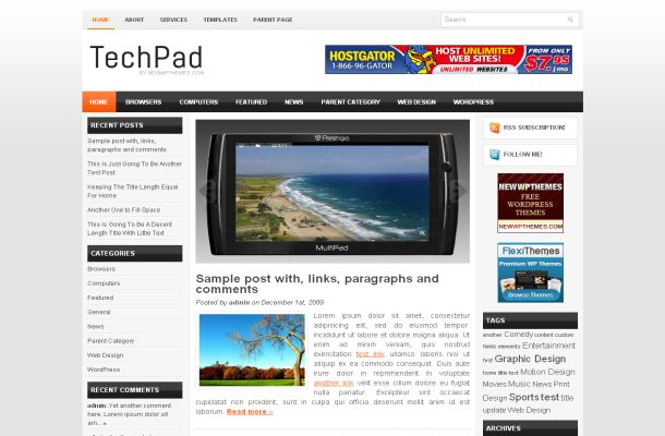 Ipad Mobiles Phone News Free WordPress Theme