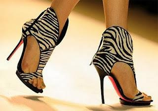 zebra print sandal