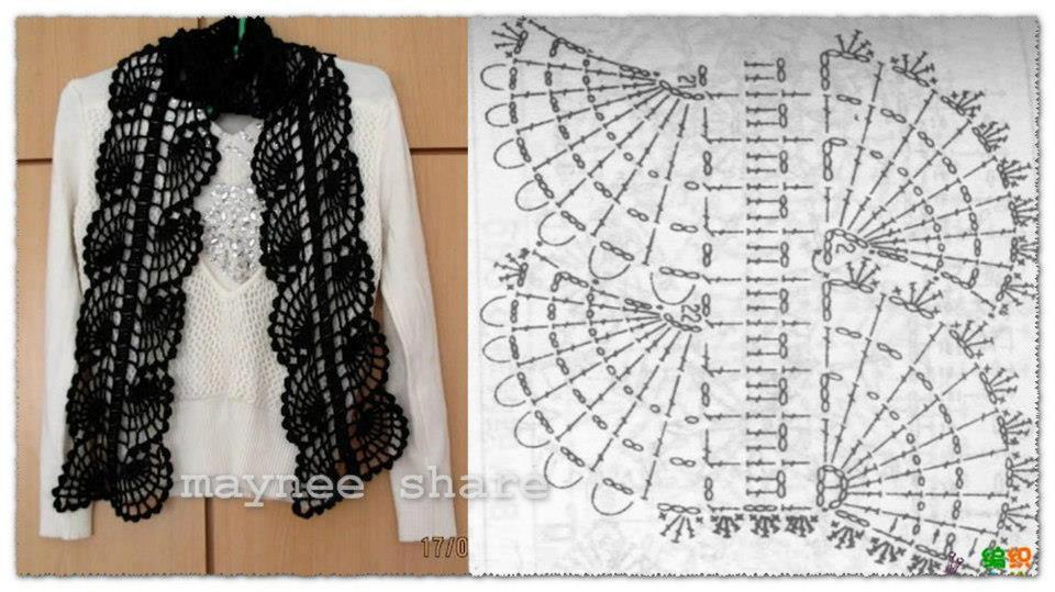 Dorable Patrón De Crochet Bufanda Interminable Inspiración - Manta ...