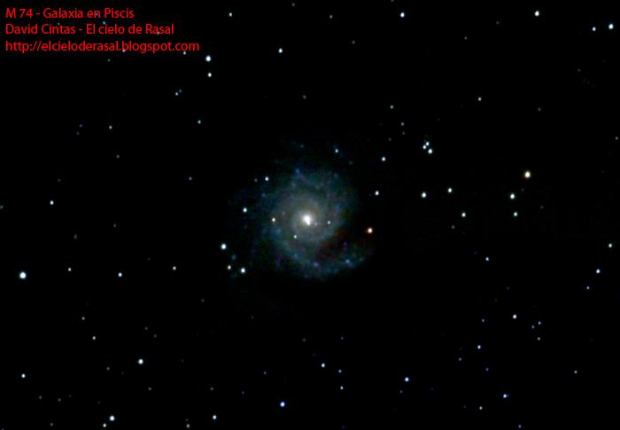 Galaxia en Piscis - El cielo de Rasal