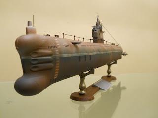 sónar y proa del submarino soviético tipo 33 marca trumpeter