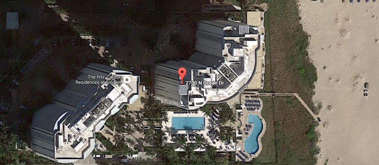 Google Earth Map of the Ritz