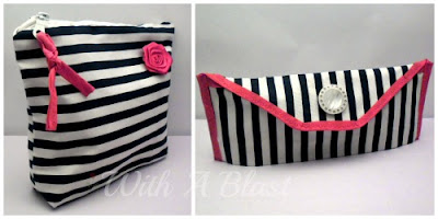 Make-Up Bag Set - 1 Large and 1 Small for your handbag    #sewing #makeupbags #toiletriesbag #makeup #storage #crafts via:withablast.blogspot.com