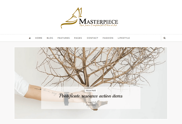 Masterpiece Clean And Responsive Blogger/Blogspot Template