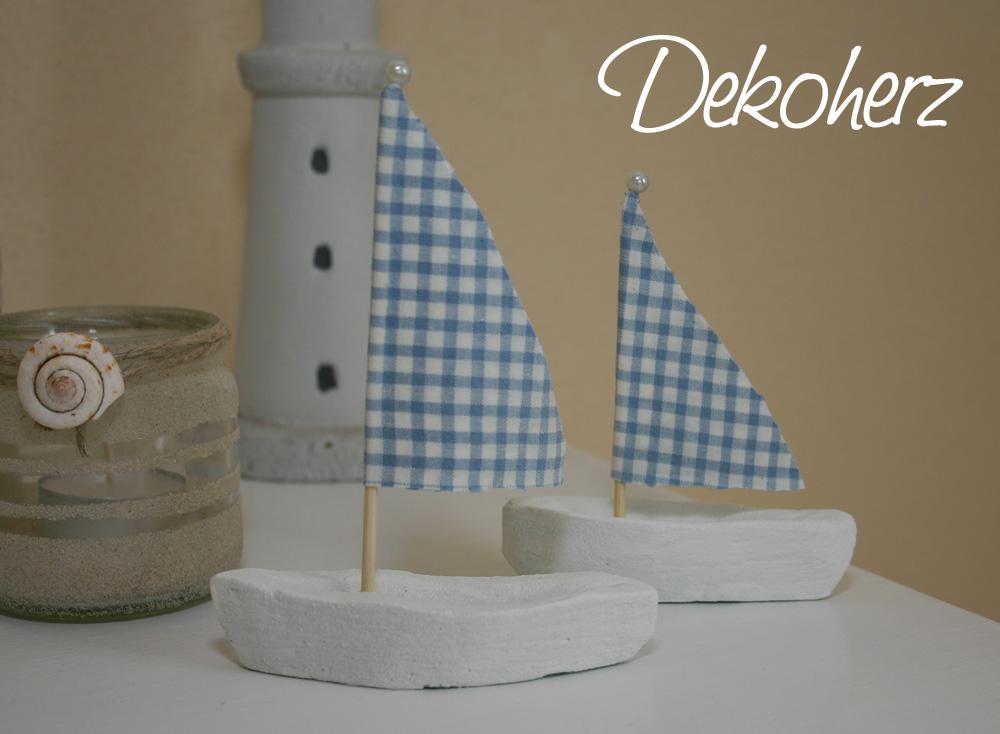 Dekoherz: Kreativwoche Maritim: Kleine Segelschiffchen