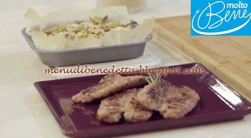 Gateau ai carciofi e salamella impanata ricetta Parodi per Molto Bene su Real Time