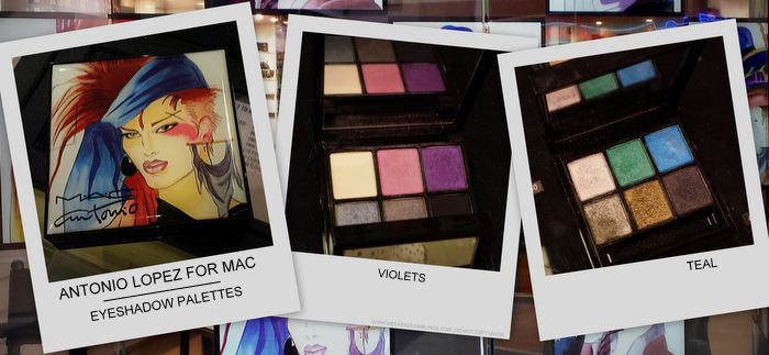 MAC Antonio Lopez 6-Color Eyeshadow Palettes - Teal, Violet, Creative Copper - Photos, Swatches