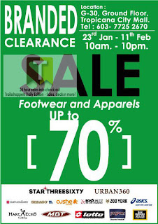 Branded Clearance Warehouse Sale 2013