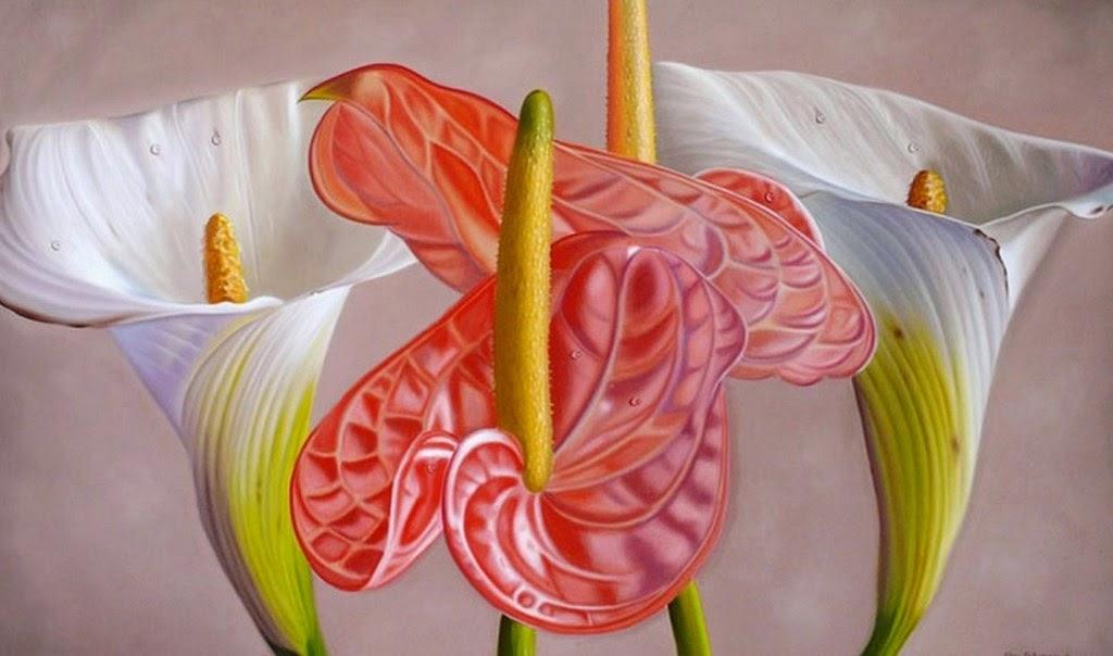 pinturas-al-oleo-de-flores-realistas