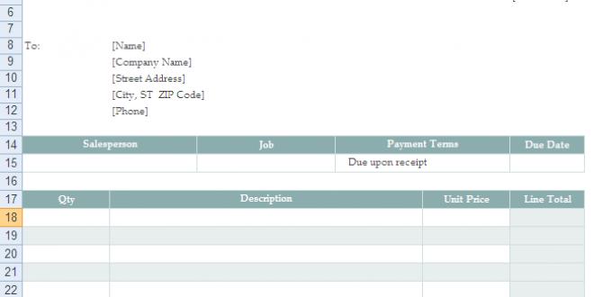 cara membuat invoice dengan menggunakan template microsoft excel, Invoice examples