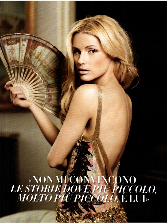 swiss television presenter model singer and actress michelle hunziker appears on the cover and an editorial for vanity fair italy edition of march 2012