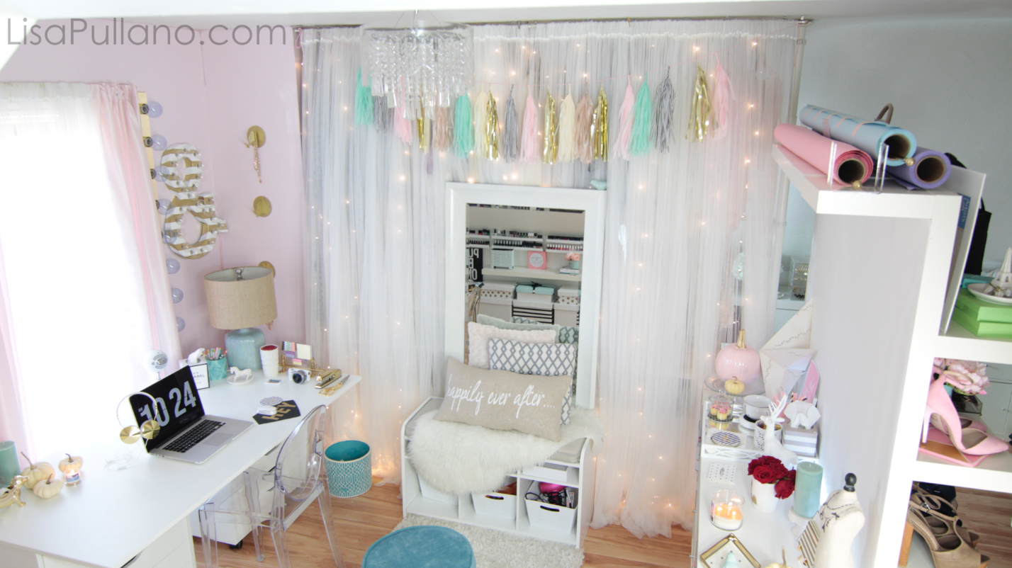 DIY Fairy Light Curtains: